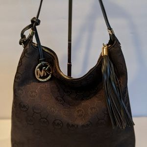 Michael Kors Canvas Hobo Bag